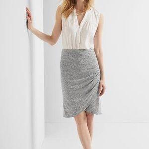 GAP soft knit marled tulip skirt